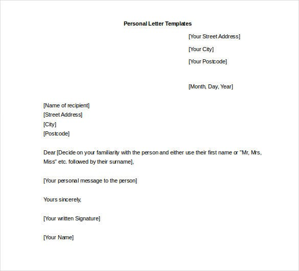 a letter template for word  letter template for word - Zimer.bwong.co