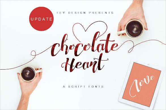 chocolate wedding font