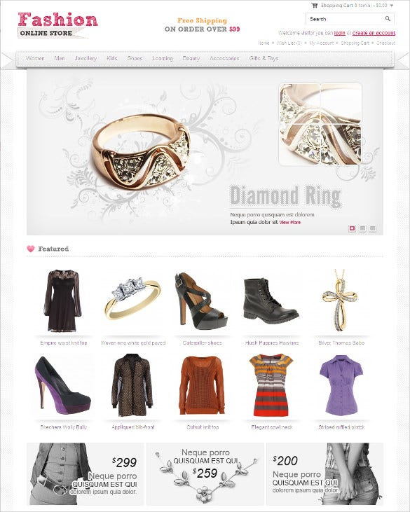 fashion jewelry opencart template