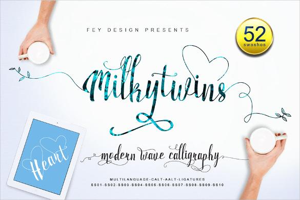 milky wedding font