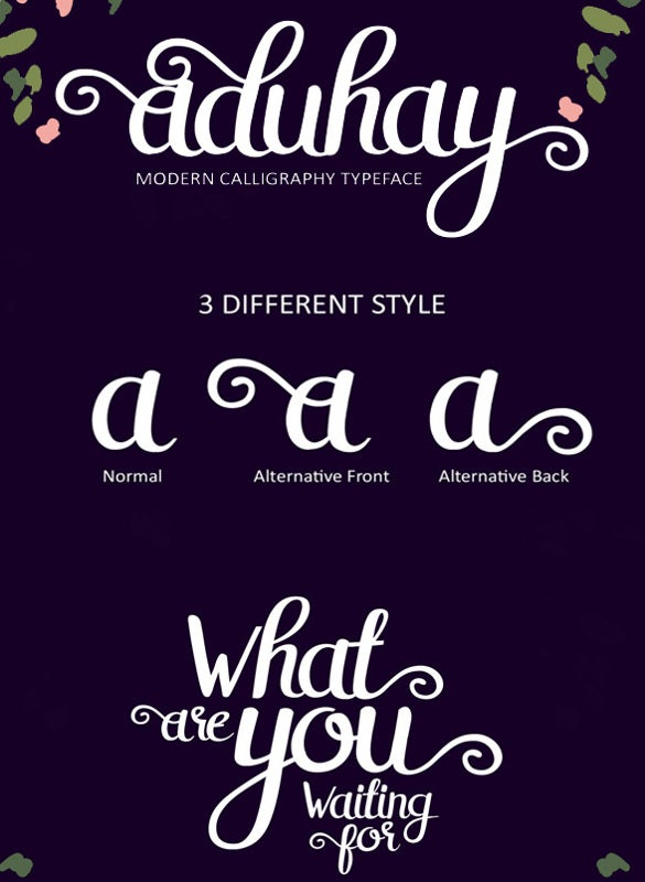 fancy wedding font