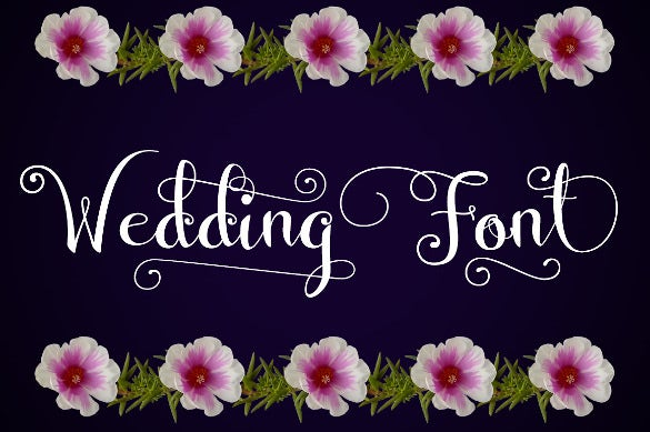 decorative wedding font