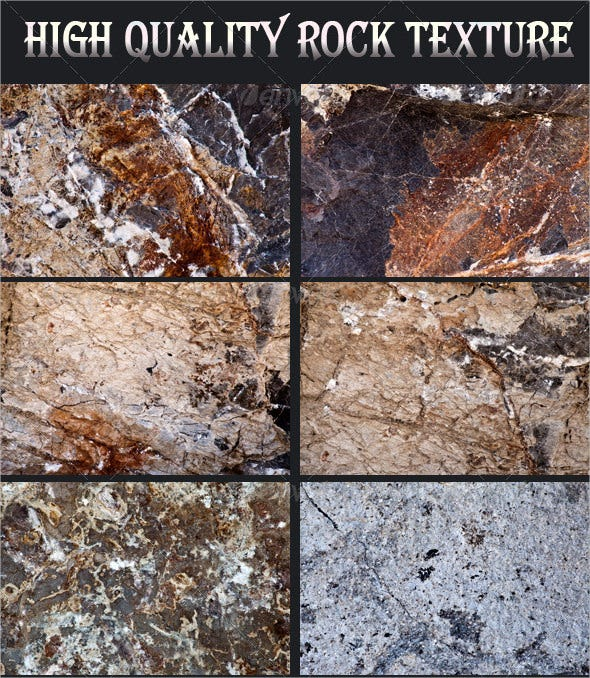 22 different high quality rock texture