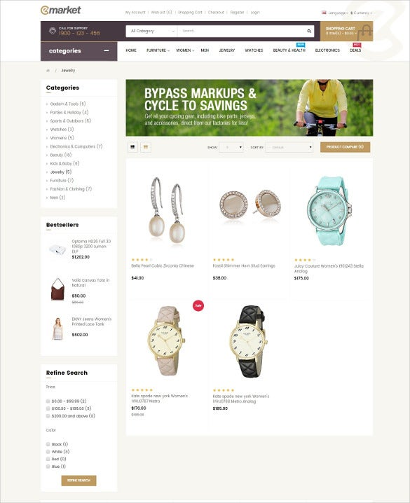 creative jewelry opencart themes