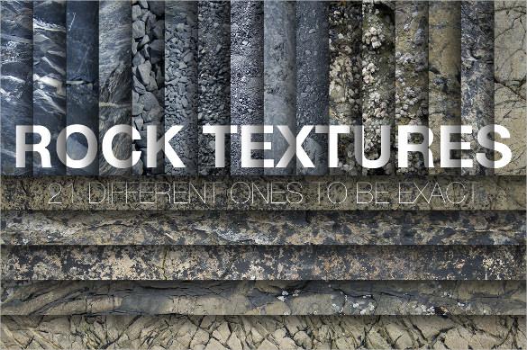 21 rock textures set