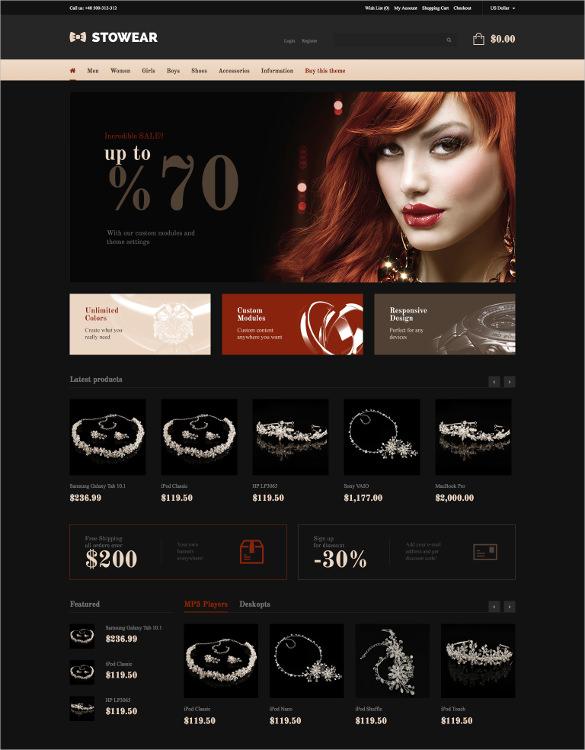 modern responsive jewelry opencart theme