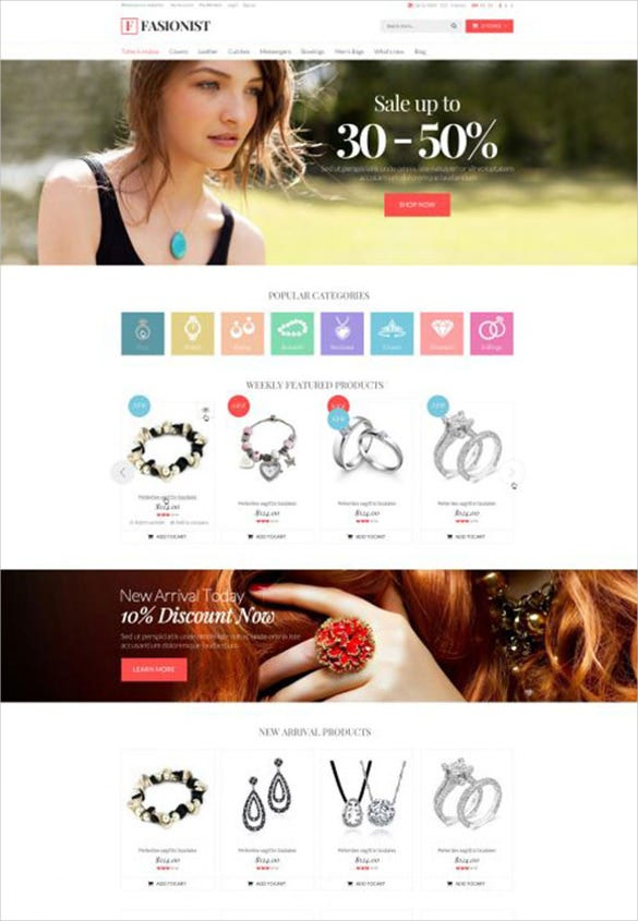 fashion responsive jewelry opencart theme