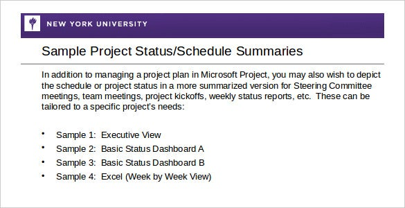 Weekly Activity Report Template 30 Free Word Excel PPT PDF – Project Status Report Excel