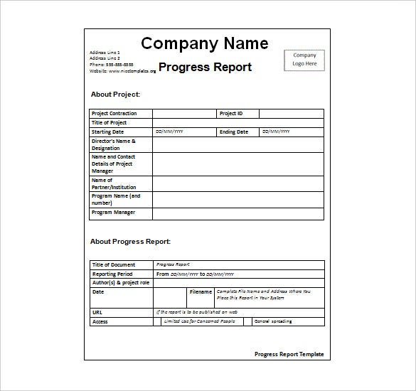word report template examples