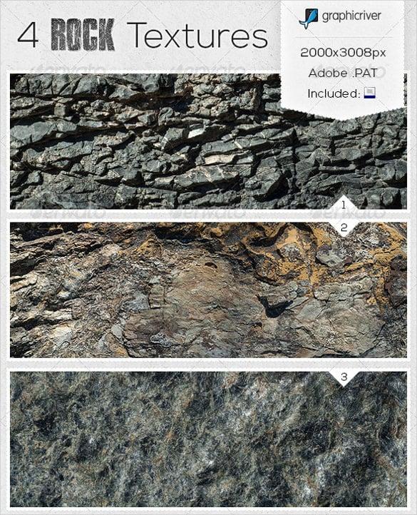 set of 4 rock textures download