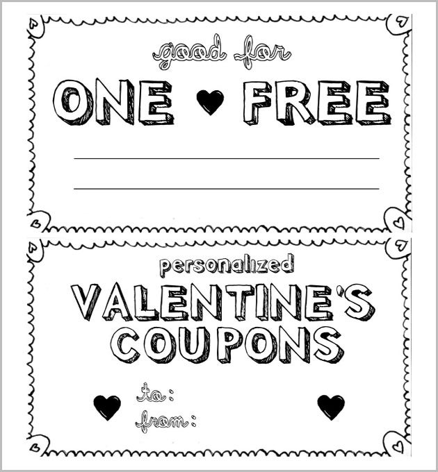 Print Ready Simple HomeMade Coupon Template  Coupon Disclaimer Examples