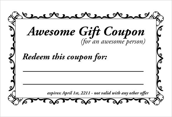 13 Homemade Coupon Templates Free Sample Example Format – Gift Coupon Template