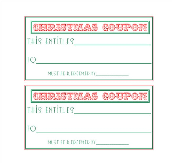 easy to make homemade coupon template download