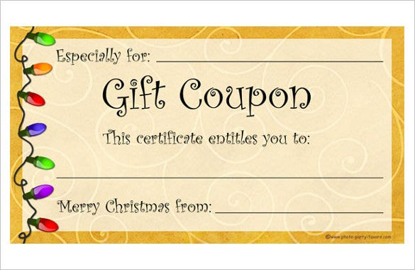 28  homemade coupon templates  u2013 free sample  example