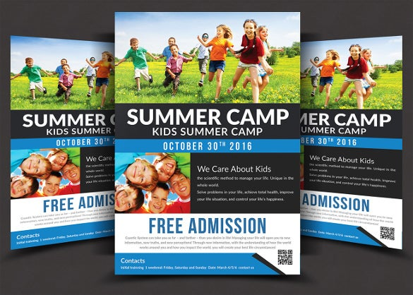 fully layered psd summer camp flyer template