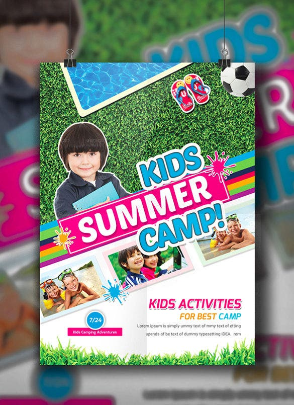kids summer camp template fully layered