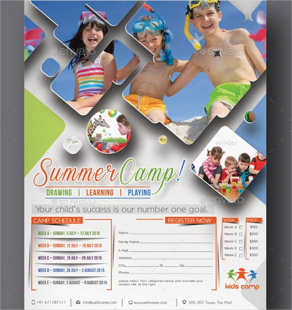 cmyk format summer camp flyer