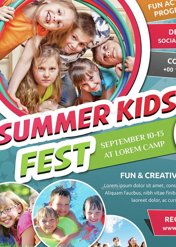 best summer camp flyer template