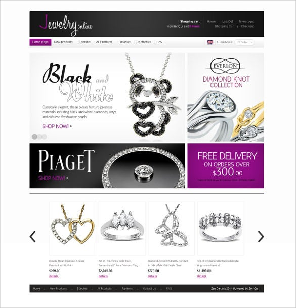 awesome jewelry zencart template