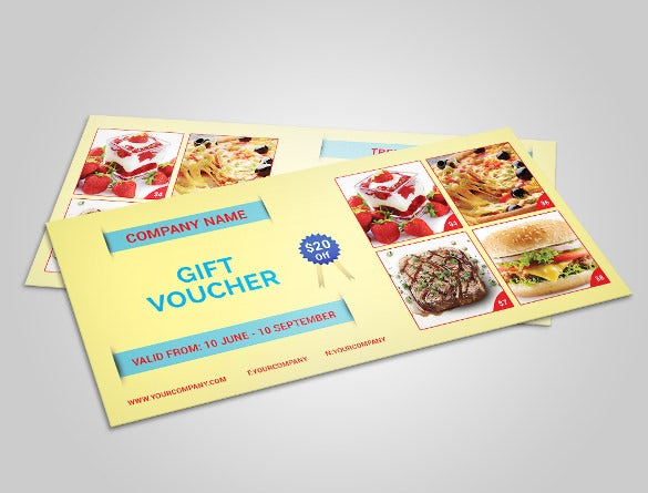 food business coupon template download