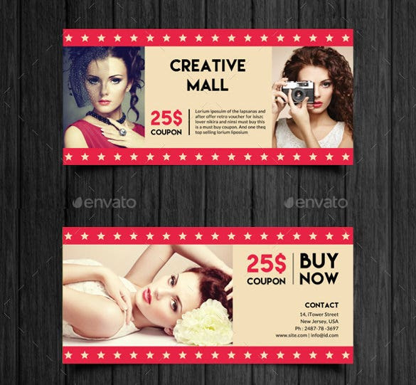 creative mall business coupon template download