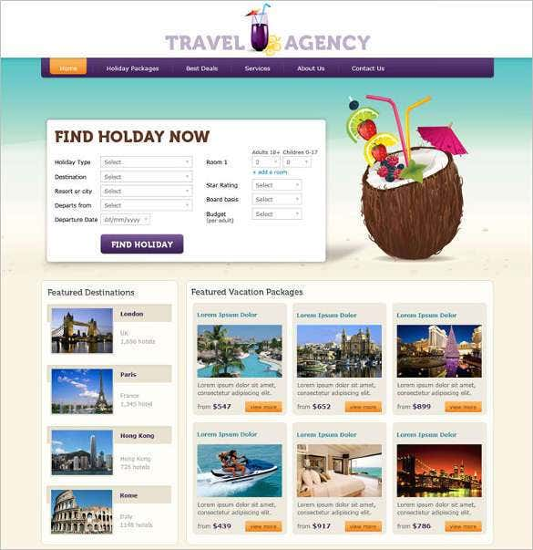 free travel agency php website template111