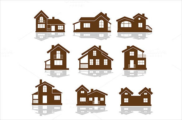 set of apartment icons