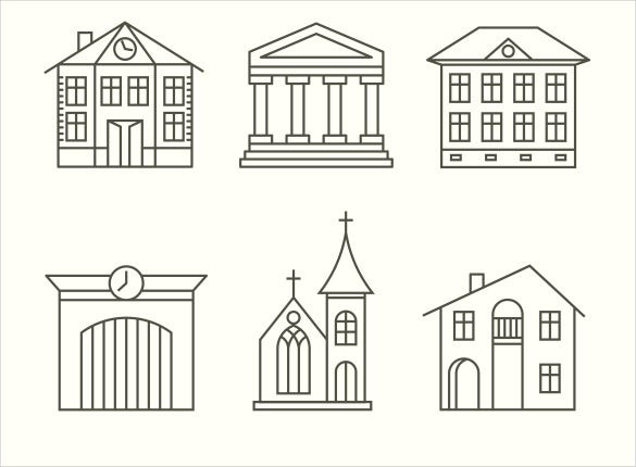 house building icon set download