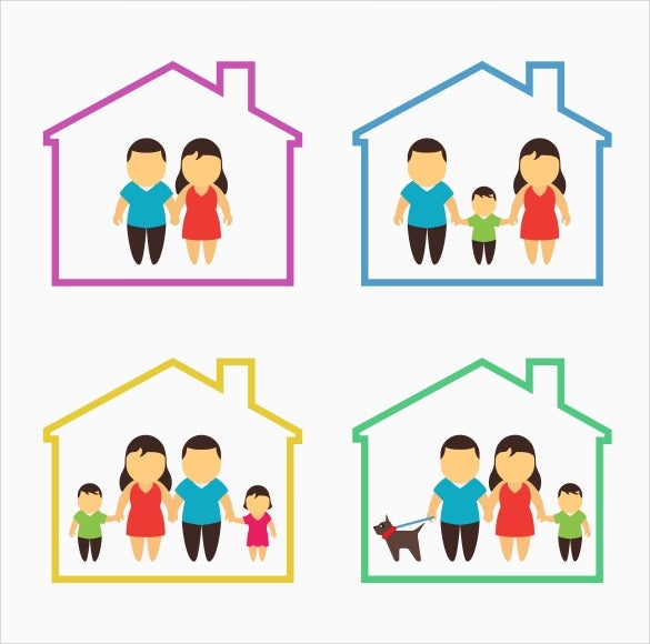 family home icon set download