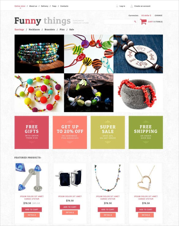 handmade jewelry virtuemart template