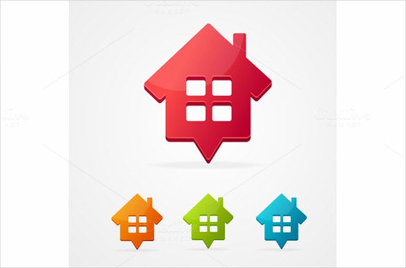 vector isolated home icon