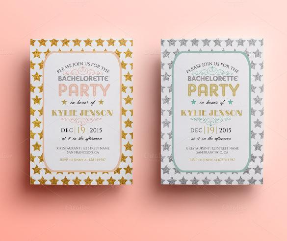 bachelorette party invitation template psd format premium download
