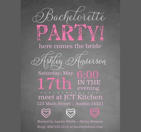 chalkie bachelorette invitation template premium download
