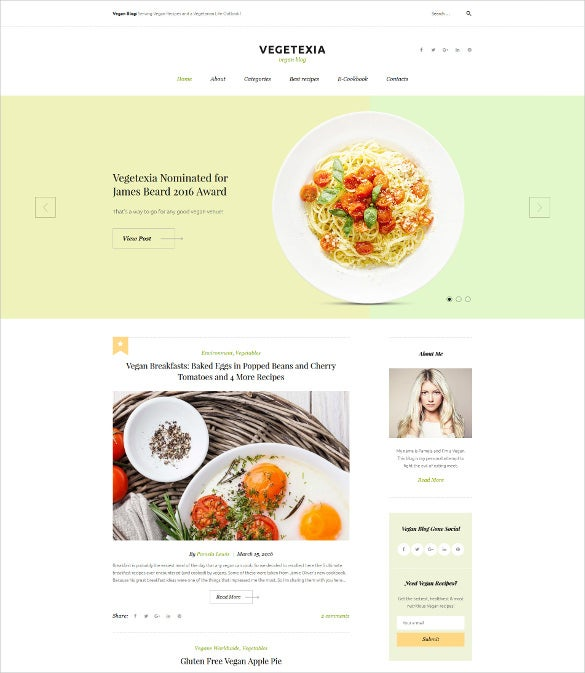 best recipes responsive wordpress theme