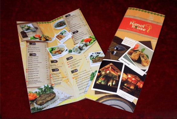 food menu template sample download