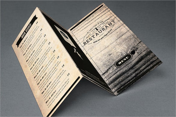 example elegant food menu template download