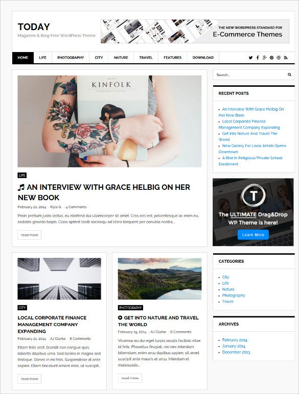 today magazine blog free wordpress theme1