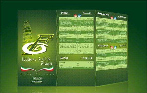 food menu template sample download2