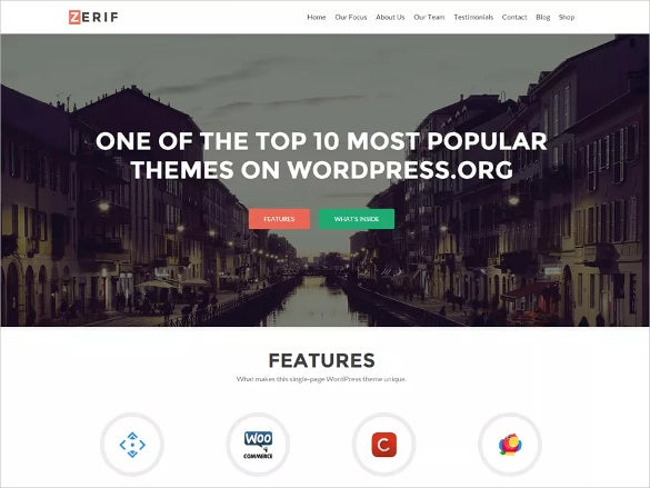 corporate free wordpress theme