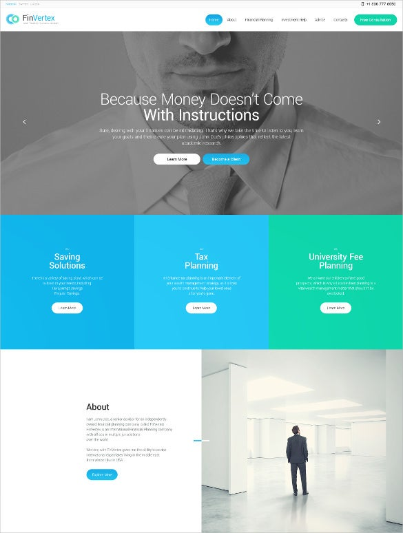 best fin vertex wordpress theme