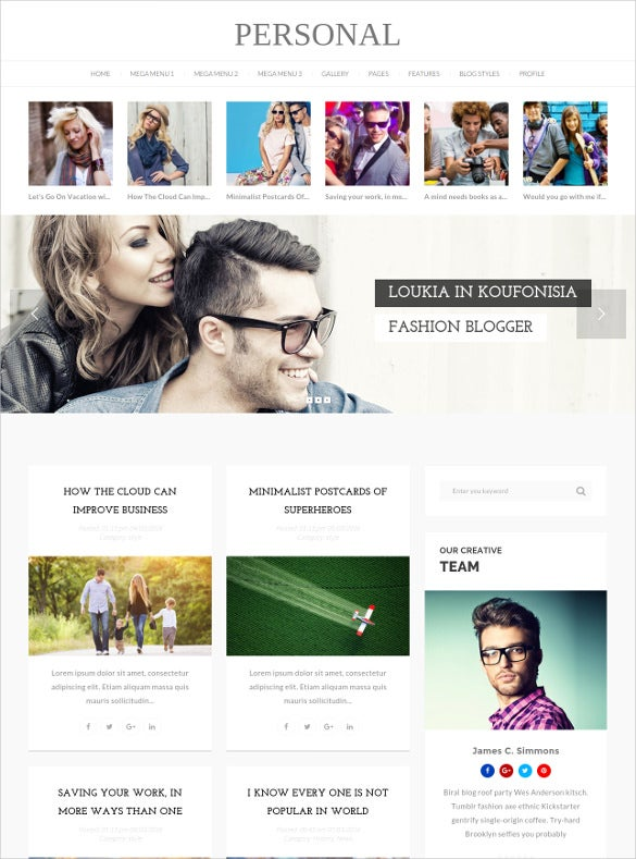 best blog cv video wordpress theme