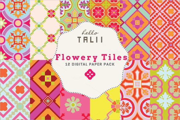 flowery tile pattern