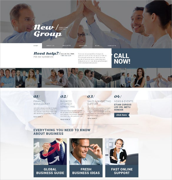 consulting firm free wordpress theme