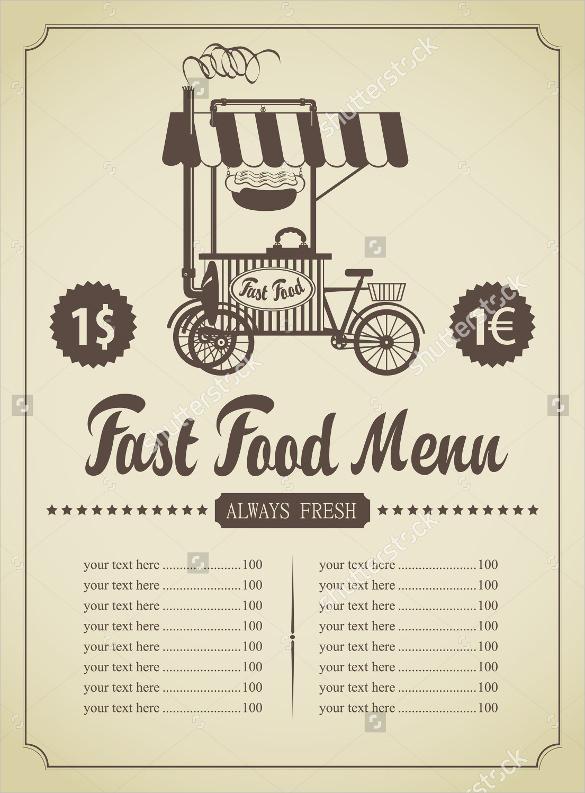 food menu template sample download4