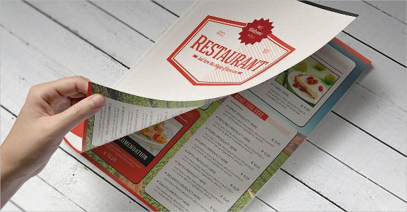 elegant food menu sample download