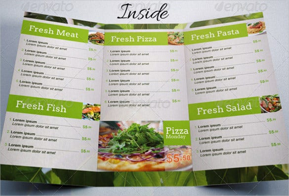 fresh food menu template vector eps format download