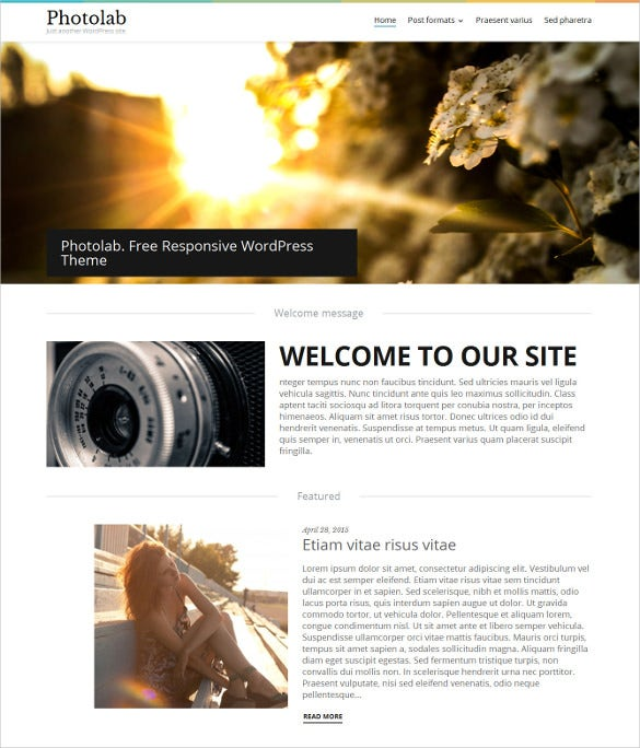 photo free wordpress template1