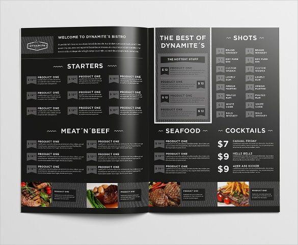 food restaurant menu design template sample download