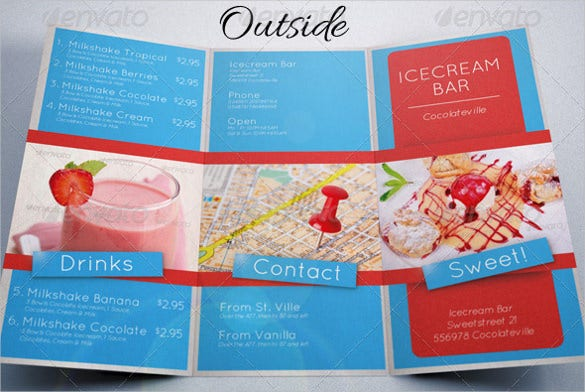 ice cream food menu psd format download