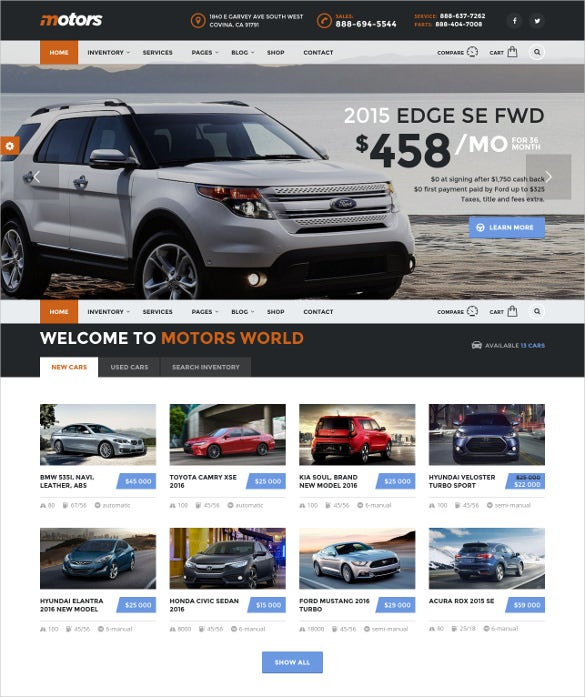 best motors wordpress theme